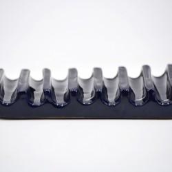Savonieră ceramică cu linii - Cobalt, 12 x 6 cm