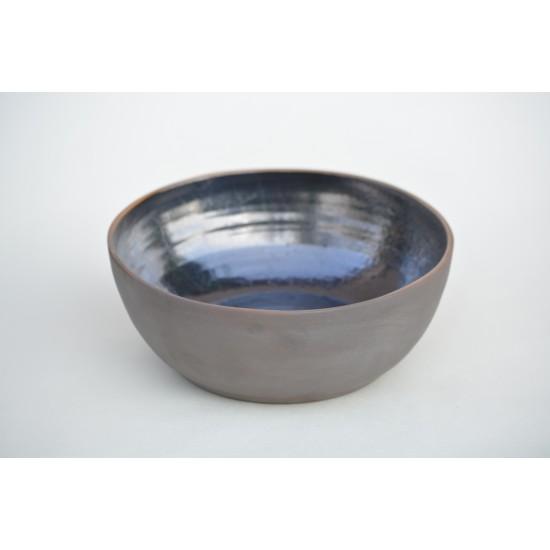Bol ceramică negru - metalic,  16 cm