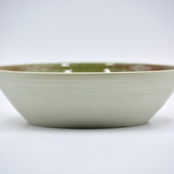 Bol ceramică verde mentă, 19 cm