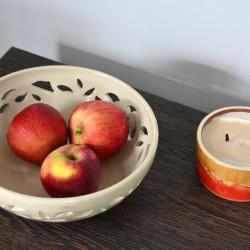 Bol ceramică pentru fructe - Decupat, 22 cm