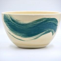 Bol ceramică pentru salate - Blue Lagoon, 23 cm