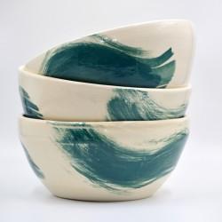 Bol ceramică pentru fructe - Blue Lagoon, 24 cm