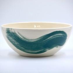 Bol ceramică pentru servire - Blue Lagoon, 22 cm