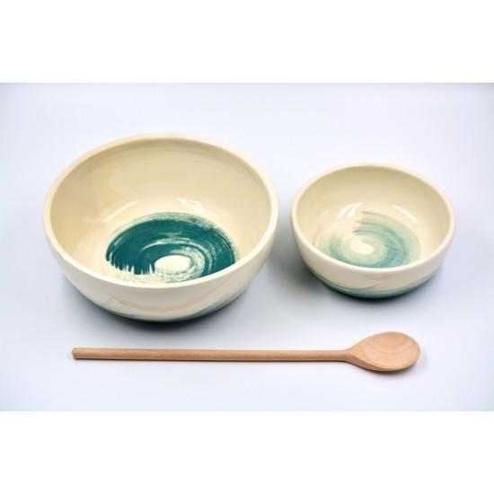 Bol ceramică pentru fructe - Blue Lagoon, 21 cm