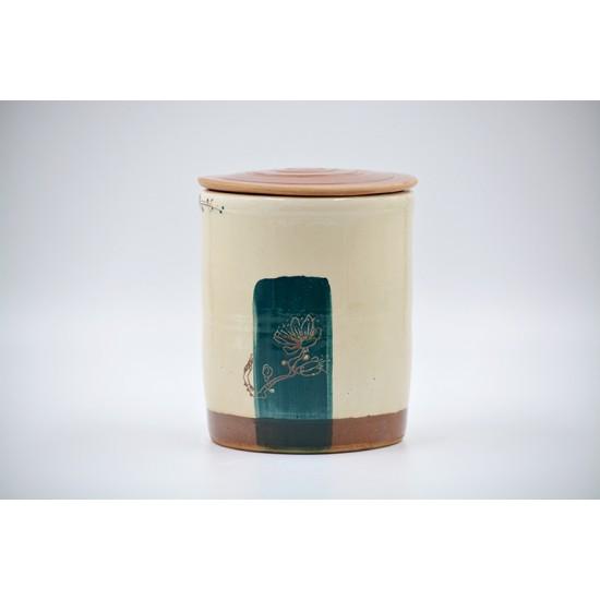 Borcan ceramică cu capac - Sakura, 700 ml