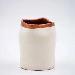 Suport ceramică ustensile bucătărie Alb, 10 x 8 cm