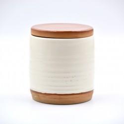 Borcan ceramică Alb, 500 ml