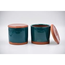 Borcan ceramică Blue Lagoon, 600 ml