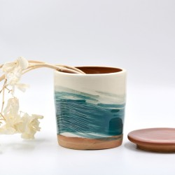 Borcan ceramică cu capac - Blue Lagoon, 800 ml