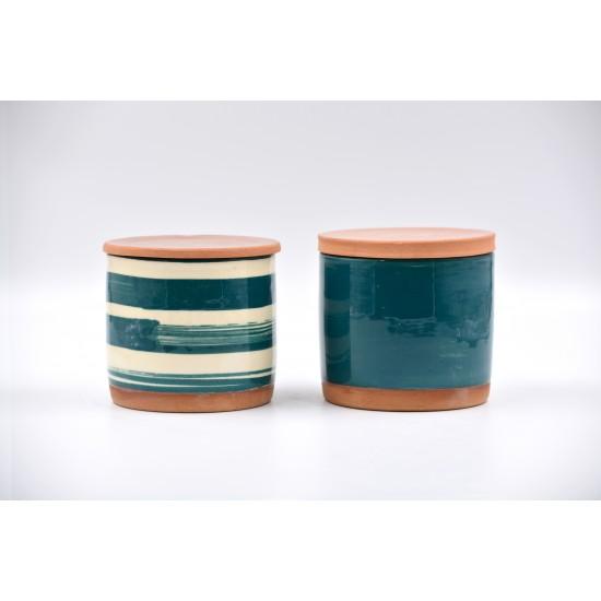 Borcane ceramică Blue Lagoon (set 2), 600 ml