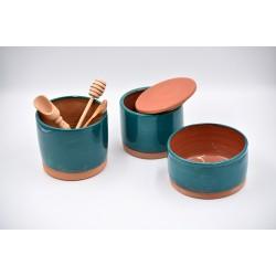 Recipiente ceramică pentru bucătărie - Blue Lagoon (set3)