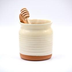 Suport ceramică ustensile bucătărie Alb, 12 x 10 cm