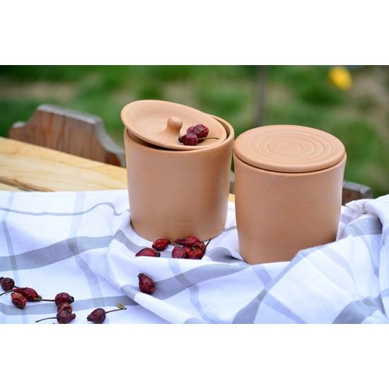 Borcane ceramică Teracota (set 2), 600 ml