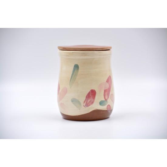 Borcan ceramică cu capac - Petale, 700 ml