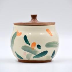 Borcan ceramică cu capac - Petale, 500 ml