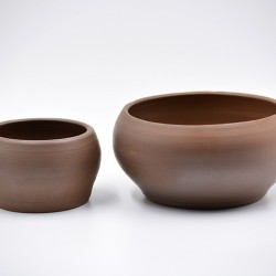 Deco boluri decorative ceramică - Ciocolată neagră (set 2), 16 cm, 11 cm