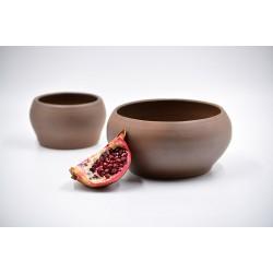 Boluri decorative ceramică - Ciocolată neagră (set 2), 16 cm, 11 cm
