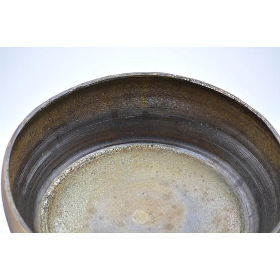 Farfurie adancă ceramica neagră, 20 cm