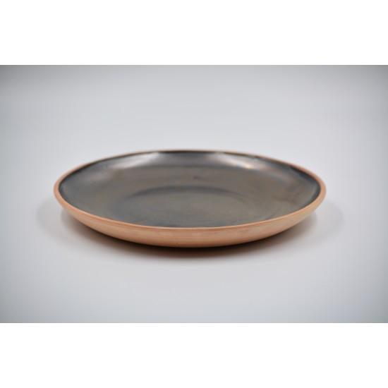 Farfurie ceramică Teracota - Metalic, 21 cm