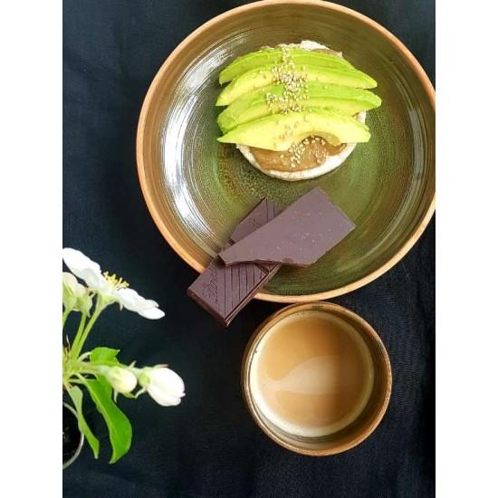 Pahare ceramică Teracota - Verde (set 2), 250 ml