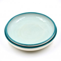 Farfurii ceramică Light Blue Lagoon (set 2), 20 cm
