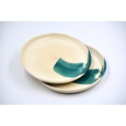 Farfurii ceramică Blue Lagoon (set 2), 22 cm