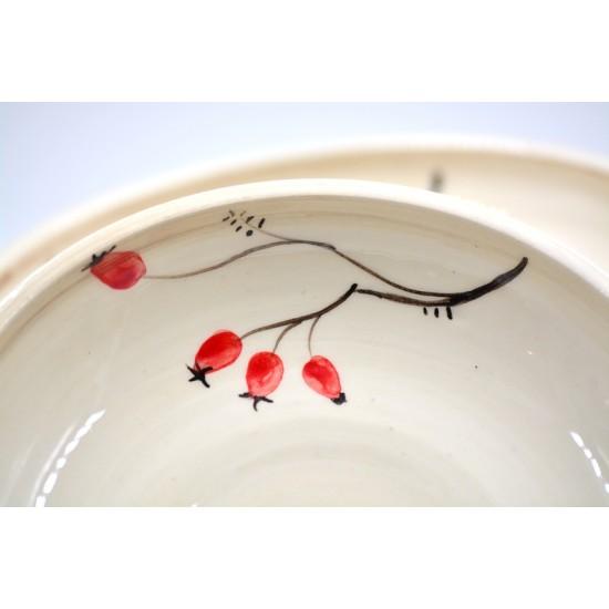 Farfurii ceramică pentru desert Maceșe (set 4), 17 cm