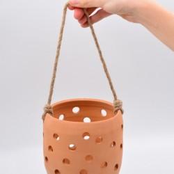 Felinar ceramică - Teracota, 11 x 12 cm