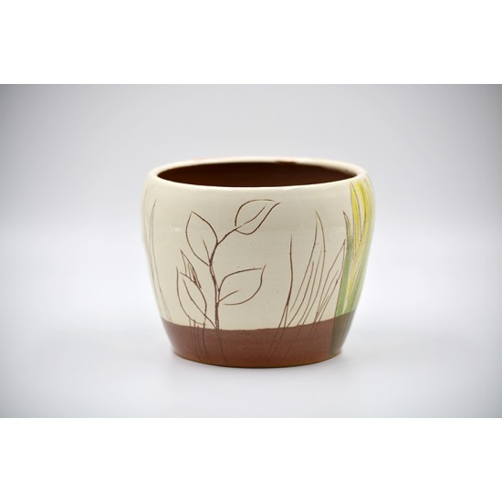 Ghiveci mască ceramică - Exotic, 14 X11 cm