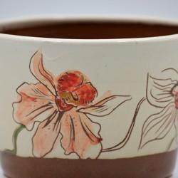 Ghiveci mască ceramică - Orhidee, 12 x 8 cm