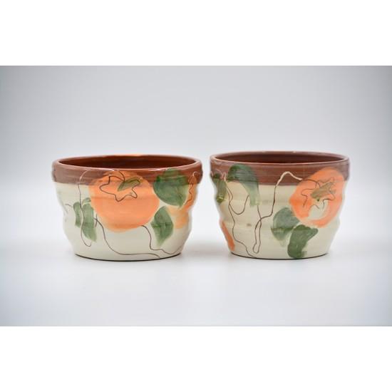 Ghiveci mască ceramică, 13 X 9 cm