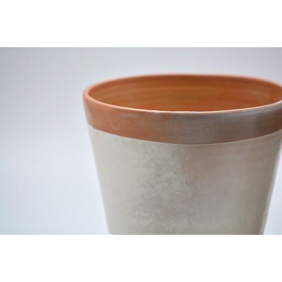 Ghiveci mască ceramică Alb, 13x 13 cm