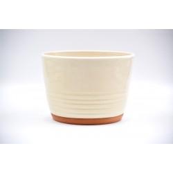 Ghiveci ceramică mască - Alb, 18 x 13 cm