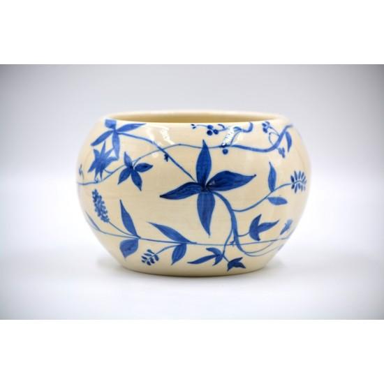 Ghiveci ceramică mască - Cobalt 13 x 11 cm