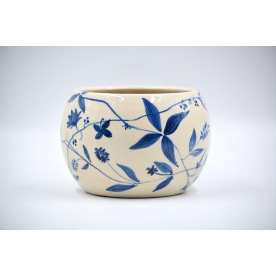 Ghiveci ceramică mască - Cobalt 12 x 10 cm
