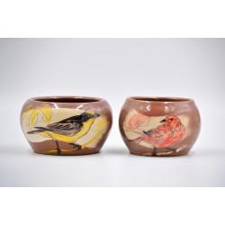 Ghivece mici ceramică Păsări (set 2), 12 cm, 10 cm