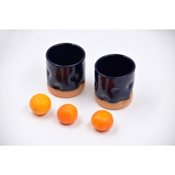 Pahar ceramică Cobalt - Amprente, 250 ml