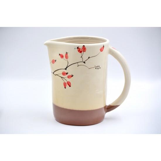 Carafă ceramică Măceșe, 1600 ml