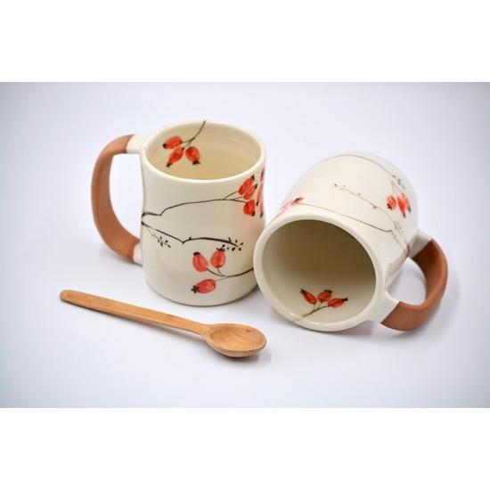 Cană ceramică Măceșe, 300 ml