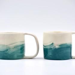 Căni ceramică - Blue Lagoon (set 2), 200 ml