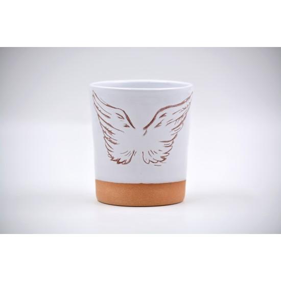 Pahar ceramică - Aripi, 350 ml