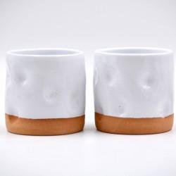 Pahar ceramică Alb - Amprente, 200 ml