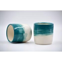 Pahar ceramică - Blue Lagoon, 300 ml