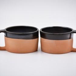 Căni ceramică - Teracota metalic (set 2), 170 ml