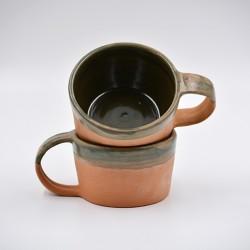 Căni ceramică - Teracota verde (set 2), 170 ml