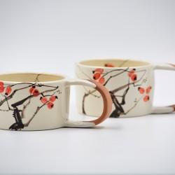 Căni ceramică - Măceșe (set 2), 170 ml