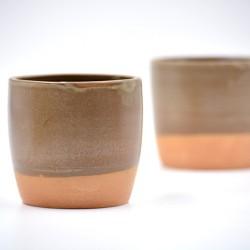 Pahare ceramică Teracota - Ceylon (set 2), 250 ml