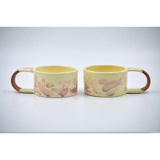 Căni ceramică - Petale (set 2), 170 ml