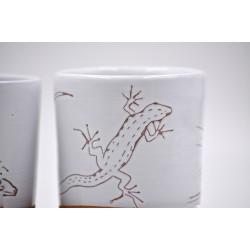 Pahare ceramică - Șopârlă (set 2), 350 ml