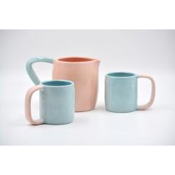 Carafă și căni ceramică (set 2)